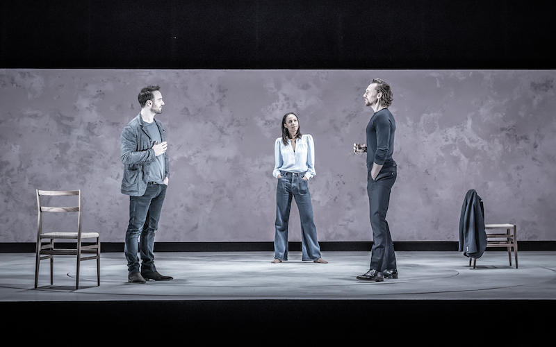 Charlie Cox (Jerry), Zawe Ashton (Emma) and Tom Hiddleston (Robert) in 'Betrayal'
