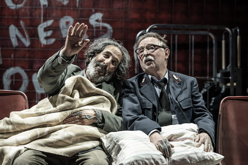 Kevork Malikyan as Sava and Ron Cook as Fret (c) Marc Brenner