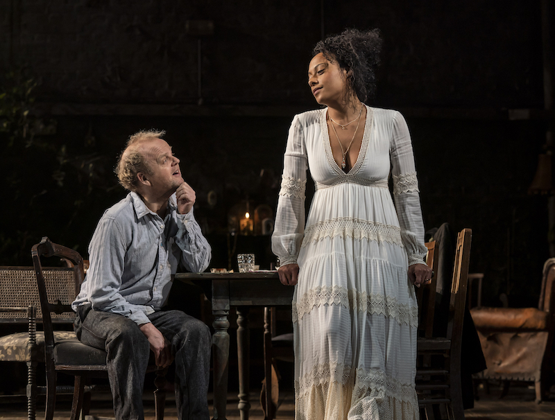 Toby Jones and Rosalind Eleazar in Uncle Vanya (c) Johan Persson